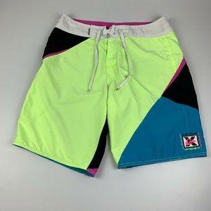Quiksilver X Series Men's 32 Board Shorts Neon